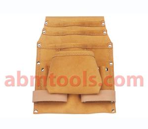 10 Pocket Split Leather Carpenter Nail & Tool Bag