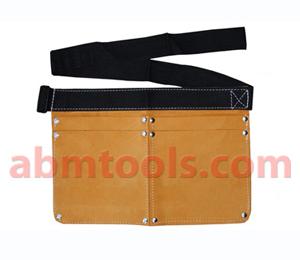 4 Pocket Split Leather Nail Bag