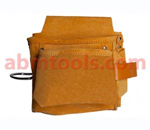 4 Pocket Split Leather Nail & Tool Bag