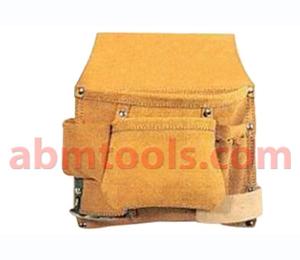 6 Pocket Split Leather Carpenter Nail & Tool Bag