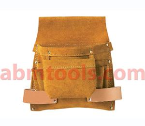8 Pocket Split Leather Carpenter Nail & Tool Bag
