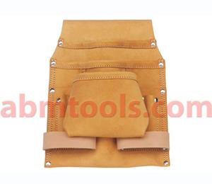 9 Pocket Split Leather Carpenter Dry Wall Bag