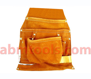 9 Pocket Split Leather Professional Style Nail & Tool Bag