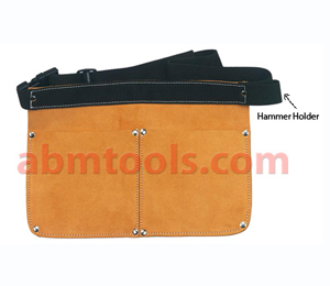Leather Nail Bag Double Pocket